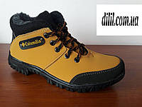 Ботинки мужские подростковые зимние желтые теплые (код 9945)