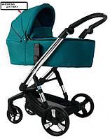 Детская коляска 2 в 1 Ibebe i-stop Chrome green. БЕСПЛАТНАЯ ДОСТАВКА!!!