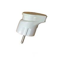 ElectroHouse Вилка с заземлением угловая Garant белая