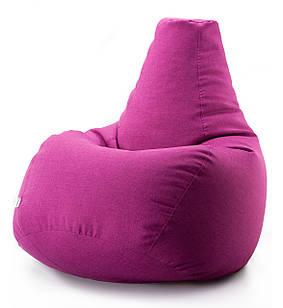 Кресло мешок груша микро-рогожка 90*130 см Малиновый