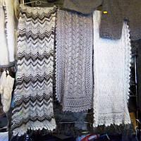 Пуховый шарф ажурный из козьего пуха в ассортименте