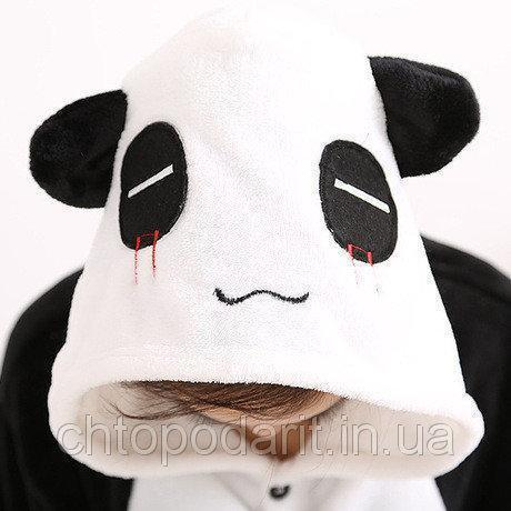 "Пижама Кигуруми взрослый ""Панда"" черный окрас  Код 10-3971"