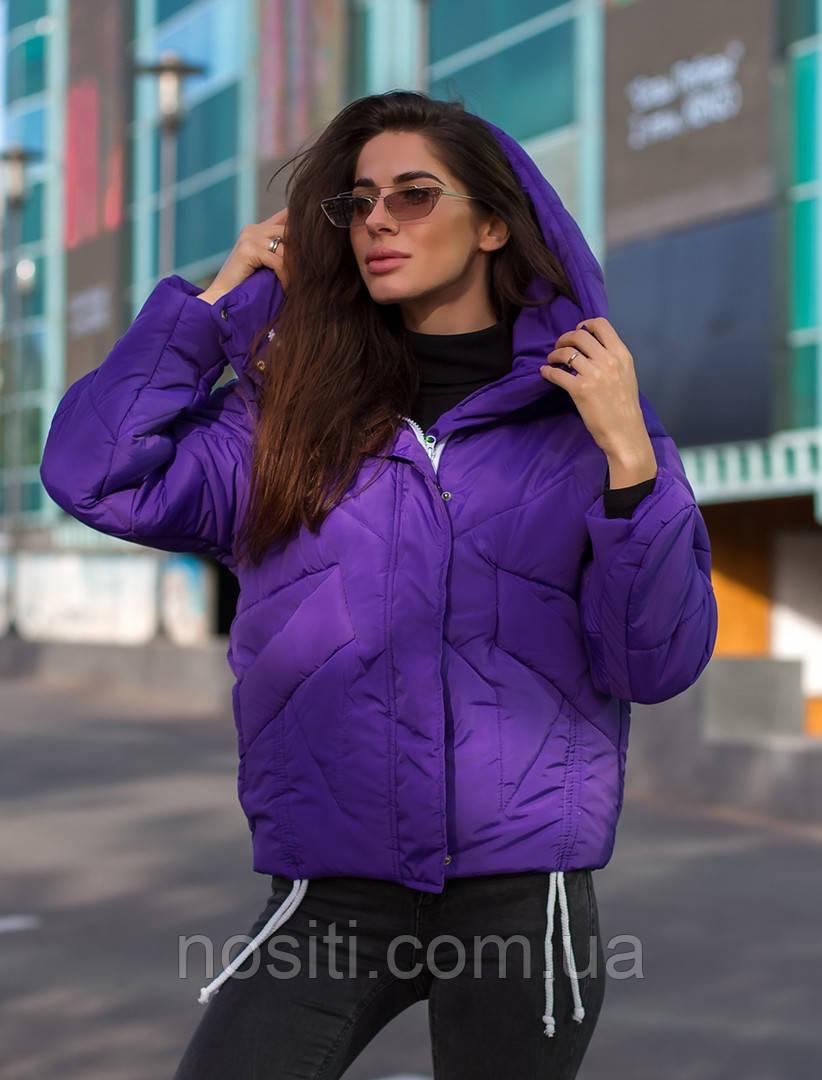 Теплая женская куртка оверсайз зима 4ре цвета