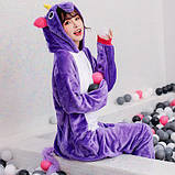 "Пижама Кигуруми взрослый ""Фиолетовый Единорог""  Код 10-4042, фото 3"