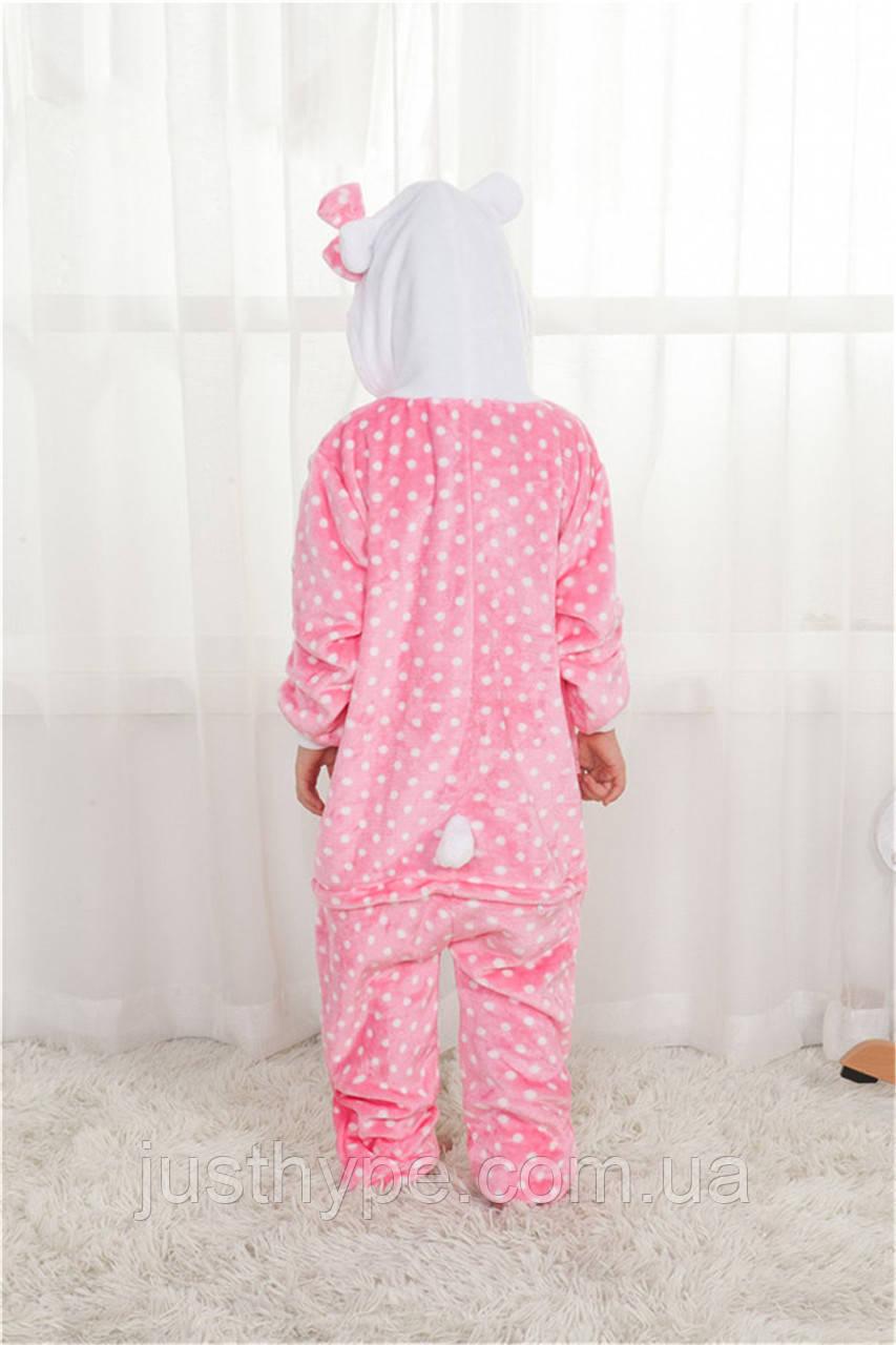 "Пижама Кигуруми детский   ""Hello Kity""  Код 10-4062"