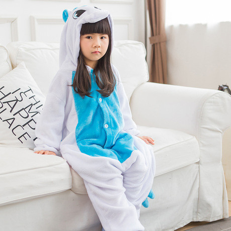 "Пижама Кигуруми детский   ""Единорог голубой с крыльями""  Код 10-4071"