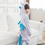 "Пижама Кигуруми детский   ""Единорог голубой с крыльями""  Код 10-4071, фото 2"