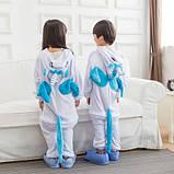 "Пижама Кигуруми детский   ""Единорог голубой с крыльями""  Код 10-4071, фото 5"