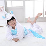 "Пижама Кигуруми детский   ""Единорог голубой с крыльями""  Код 10-4071, фото 6"