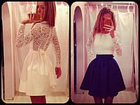 Платье BABYDOLL молочный+синий
