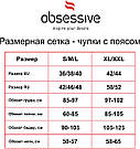 Чулки с поясом Obsessive S206 Польша черный S/M/L, фото 7