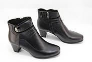 Осенние кожаные ботинки среднем каблуке Battine B486, фото 2