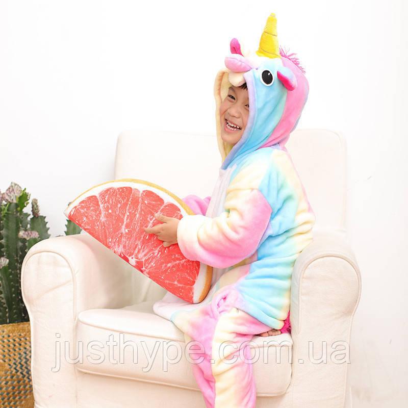 """Пижама Кигуруми детский   """"Единорог радуга пастель""""  Код 10-4082"""