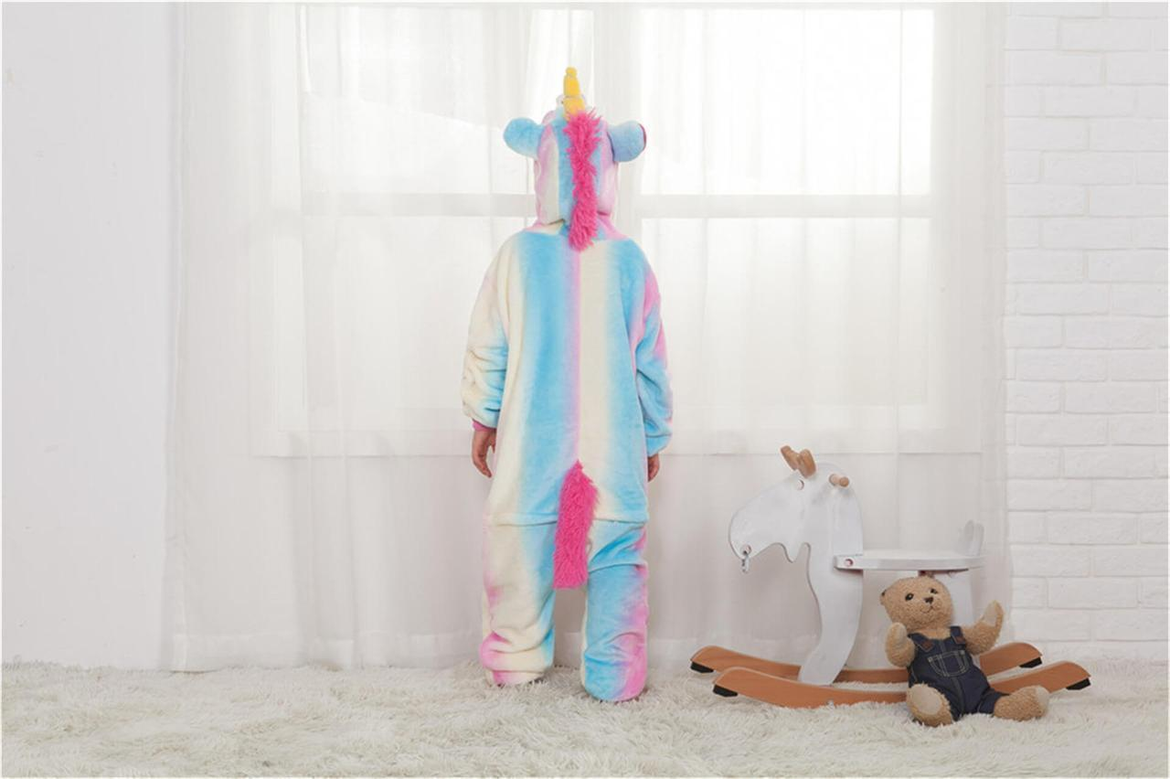 """Пижама Кигуруми детский   """"Единорог радуга пастель""""  Код 10-4083"""