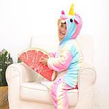 """Пижама Кигуруми детский   """"Единорог радуга пастель""""  Код 10-4083, фото 2"""