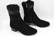 Жіночі чорні замшеві черевики Battine B865, фото 2
