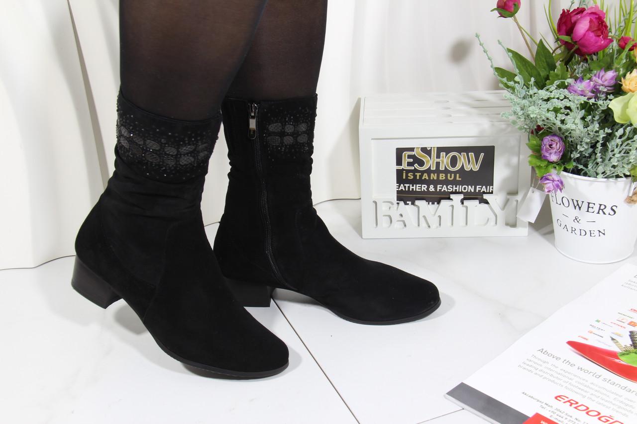 Жіночі чорні замшеві черевики Battine B865