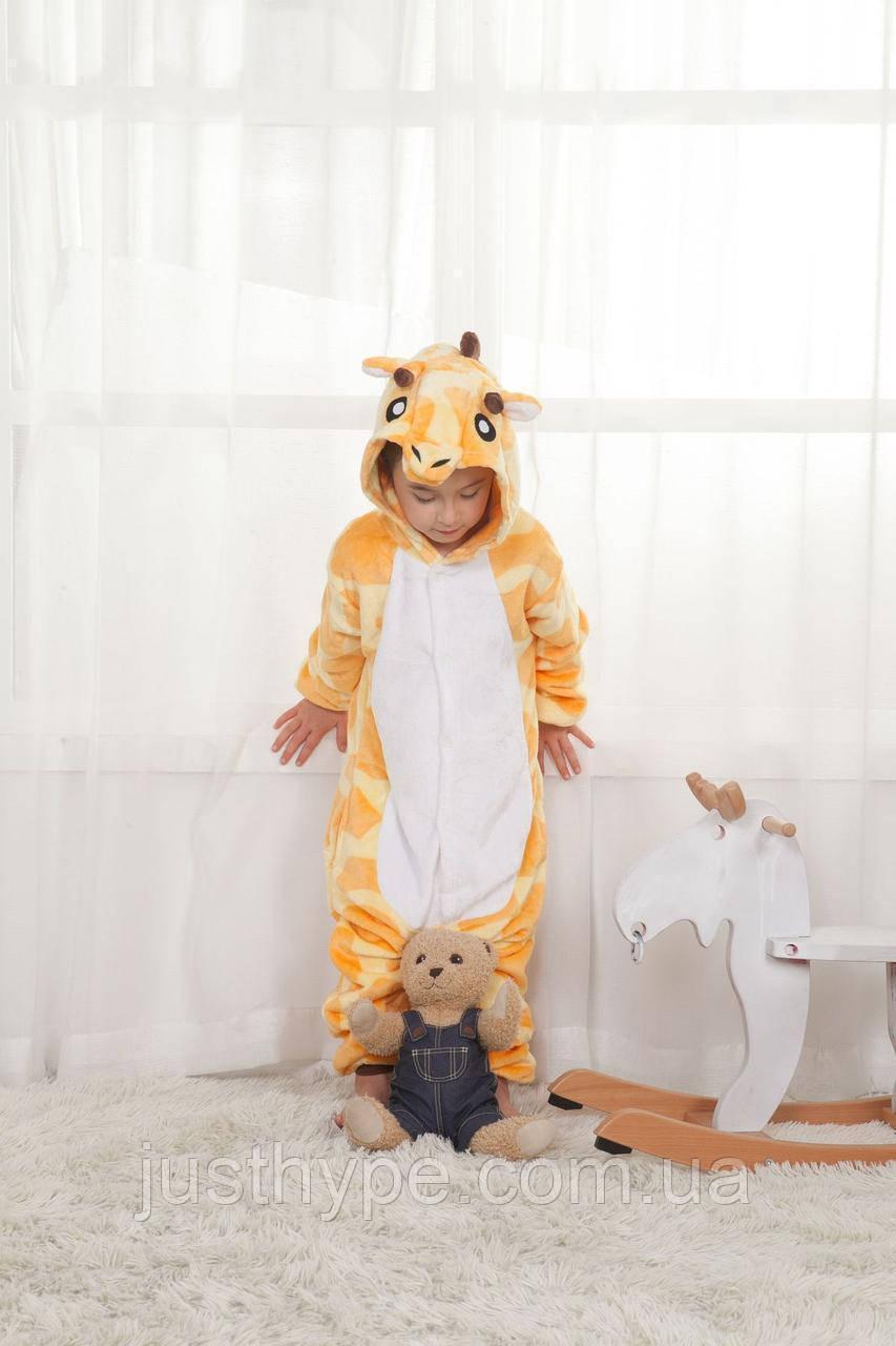 "Пижама Кигуруми детский   ""Жираф""  Код 10-4100"