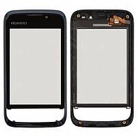 Touchscreen (сенсорный экран) для Huawei U8230, с передней панелью, оригинальный (черный)