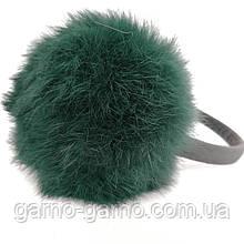 Наушники меховые Зимние кролик зелёный цвет
