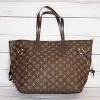 Женская сумка шоппер в стиле Lоuis Vuittоn (Луи Виттон), коричневая ( код: IBG189K2 )