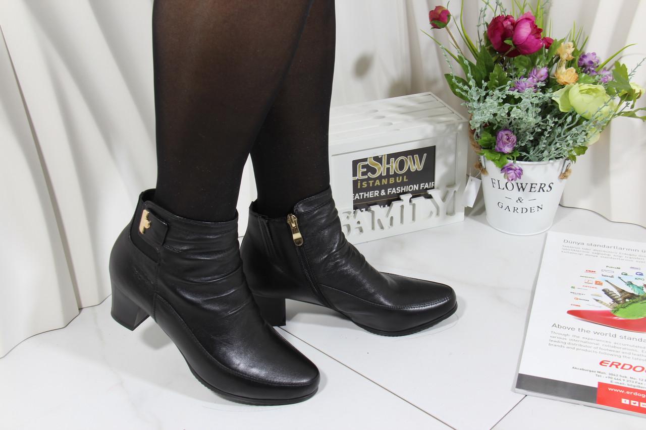 Осенние ботинки кожаные Battine B485