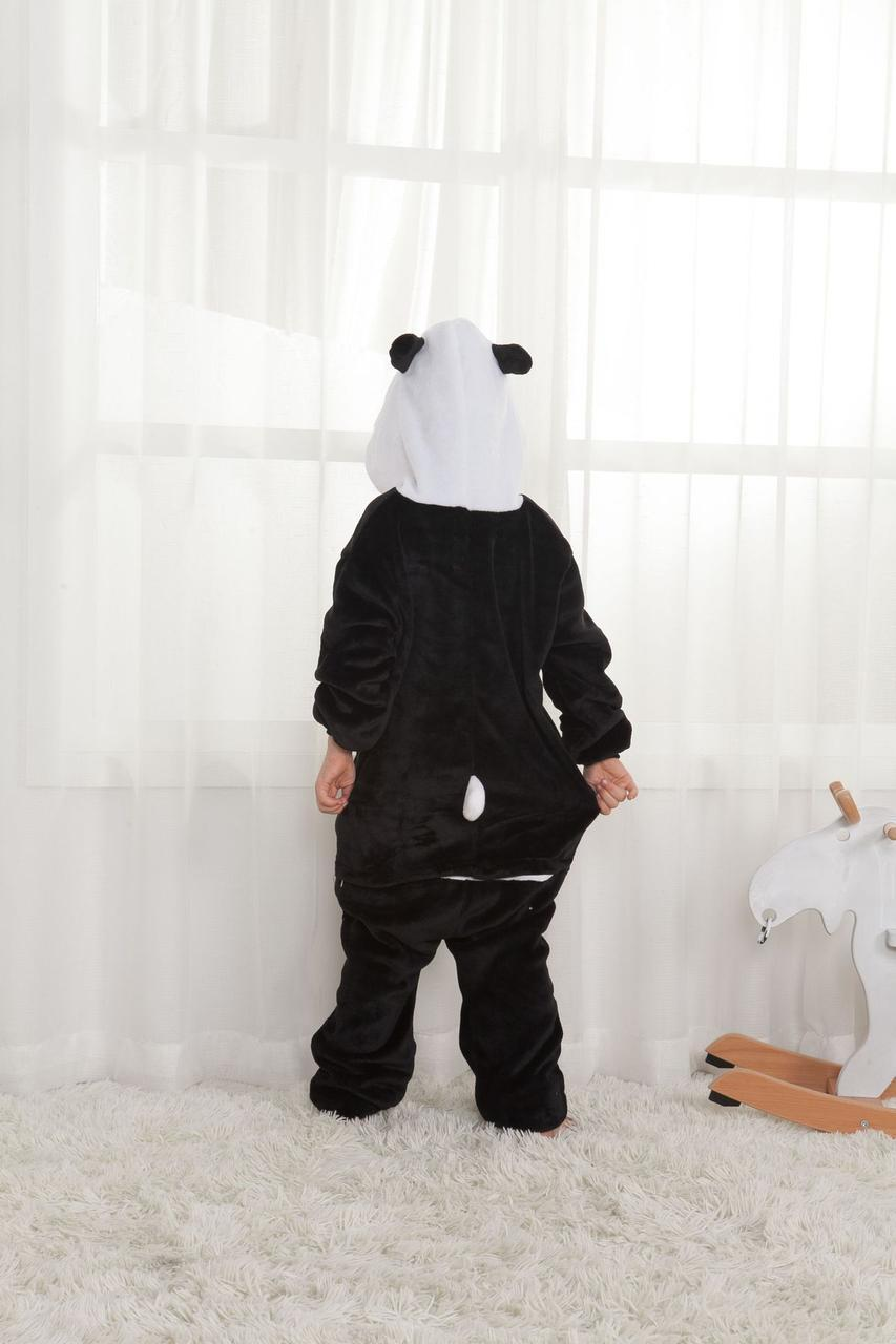 "Пижама Кигуруми детский ""Панда"" черный окрас  Код 10-4166"
