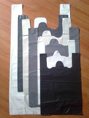 Пакеты большие и плотные без печати, майка-багажка