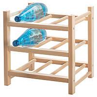 IKEA HUTTEN (700.324.51) Подставка для 9 бутылок вина, массивная древесина