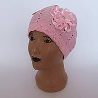 Детская ажурная шапка для девочки 4-6 лет оптом