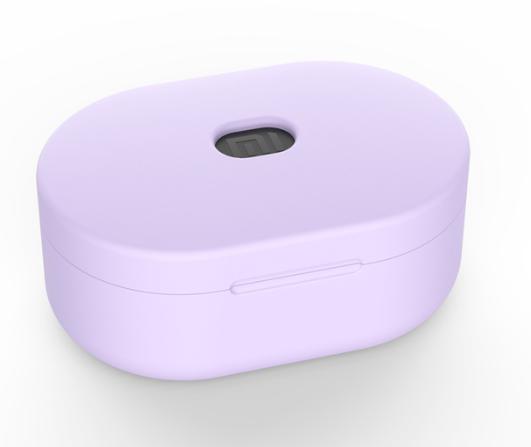 Силиконовый оригинал чехол на кейс для Xiaomi Redmi Airdots / Ультратонкий Soft-touch / фиолетовый