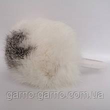 Наушники меховые Зимние кролик Бело-серый цвет