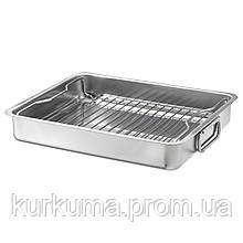 IKEA KONCIS Форма для выпечки с грилем, нержавеющей стали, 40x32 см (100.990.53)