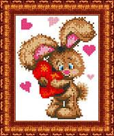 Схема для вышивки бисером Влюбленный зайчонок