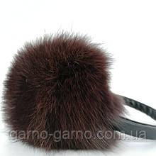 Наушники меховые Зимние кролик  Коричневый Шоколадный цвет