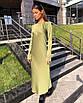 Минималистичное вечернее шелковое платье макси длинное зеленое салатовое черное айвори стальное с рукавами, фото 7
