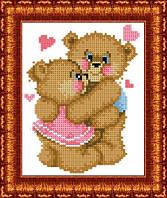 Схема для вышивки бисером Влюбленные медвежата
