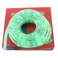 Гирлянда Xmas Rope light 10 м G зеленая, светодиодная лента дюралайт