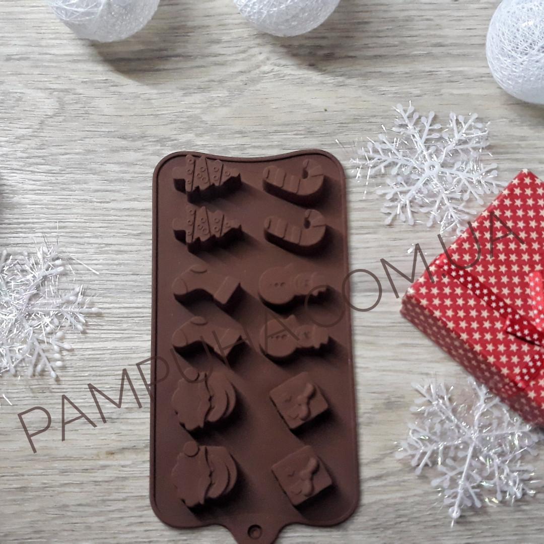"""Форма для льда и конфет """"Новогодние подарки"""""""