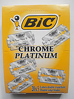 Лезвия Bic Chrome platinum 100 шт, фото 1