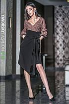 Стильное молодёжное платье с в V-образным вырезом на запах с 42 по 48 размер, фото 3