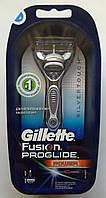 Бритвенный станок Gillette Fusion ProGlide Power на подставке с картриджем и батарейкой