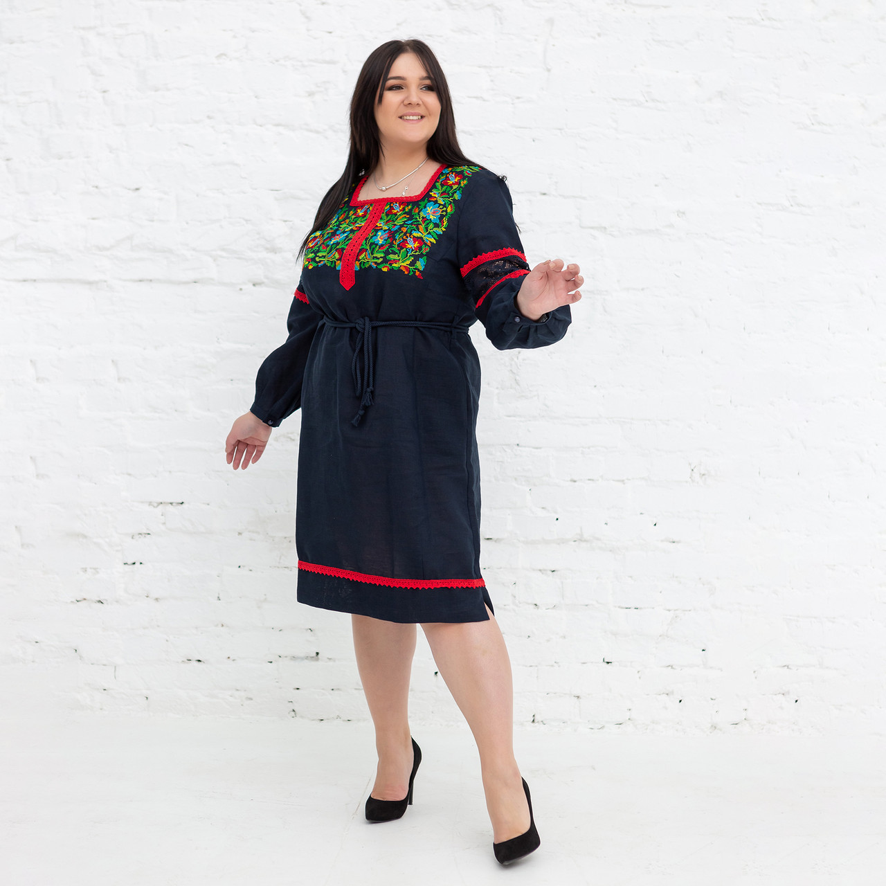 """Украинские платья c цветами """"Трембита"""""""