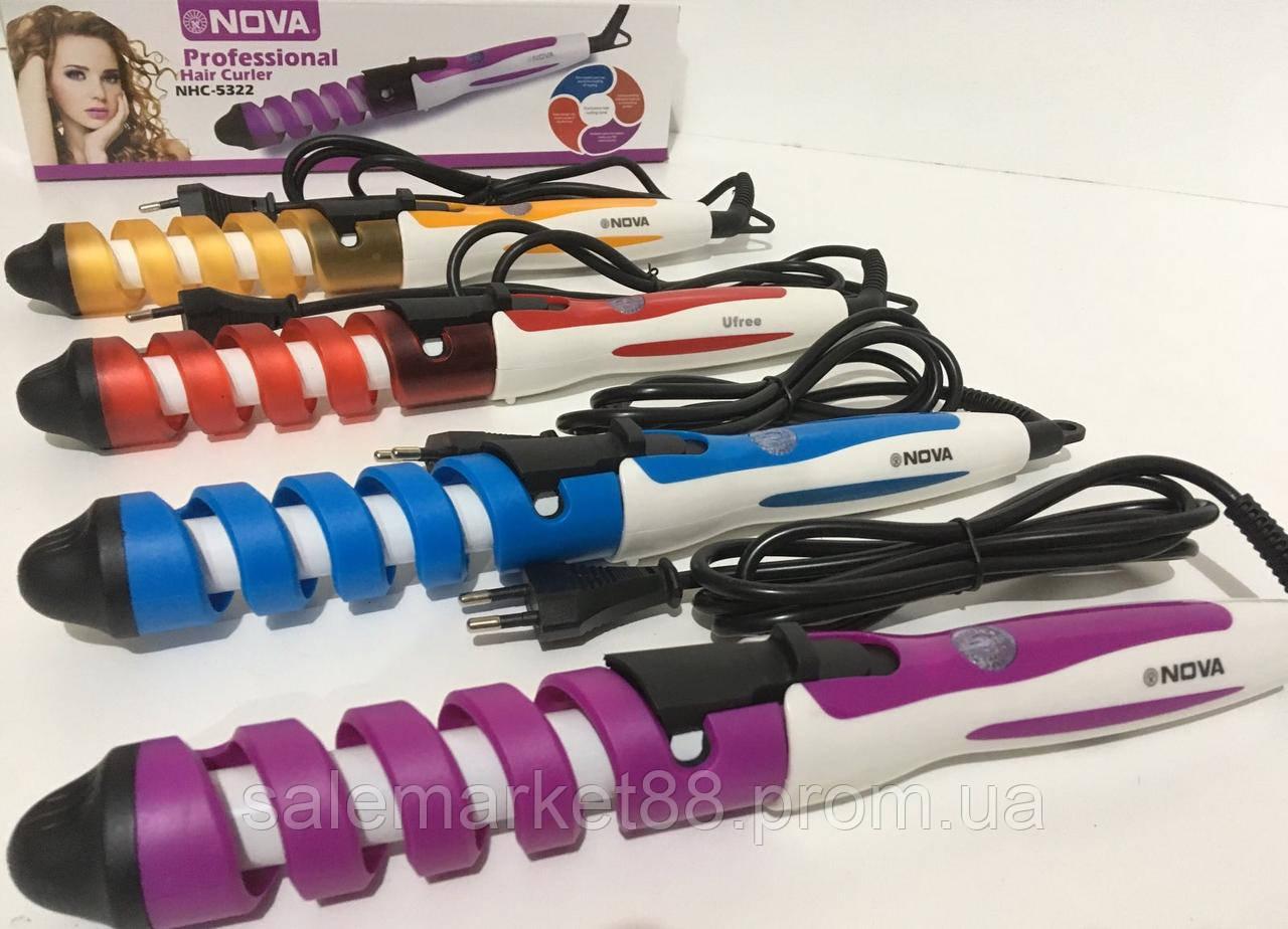 Плойка спиральная для волос NOVA NHC-5322