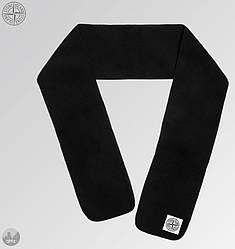 Теплый шарф Stone Island черного цвета (люкс копия)