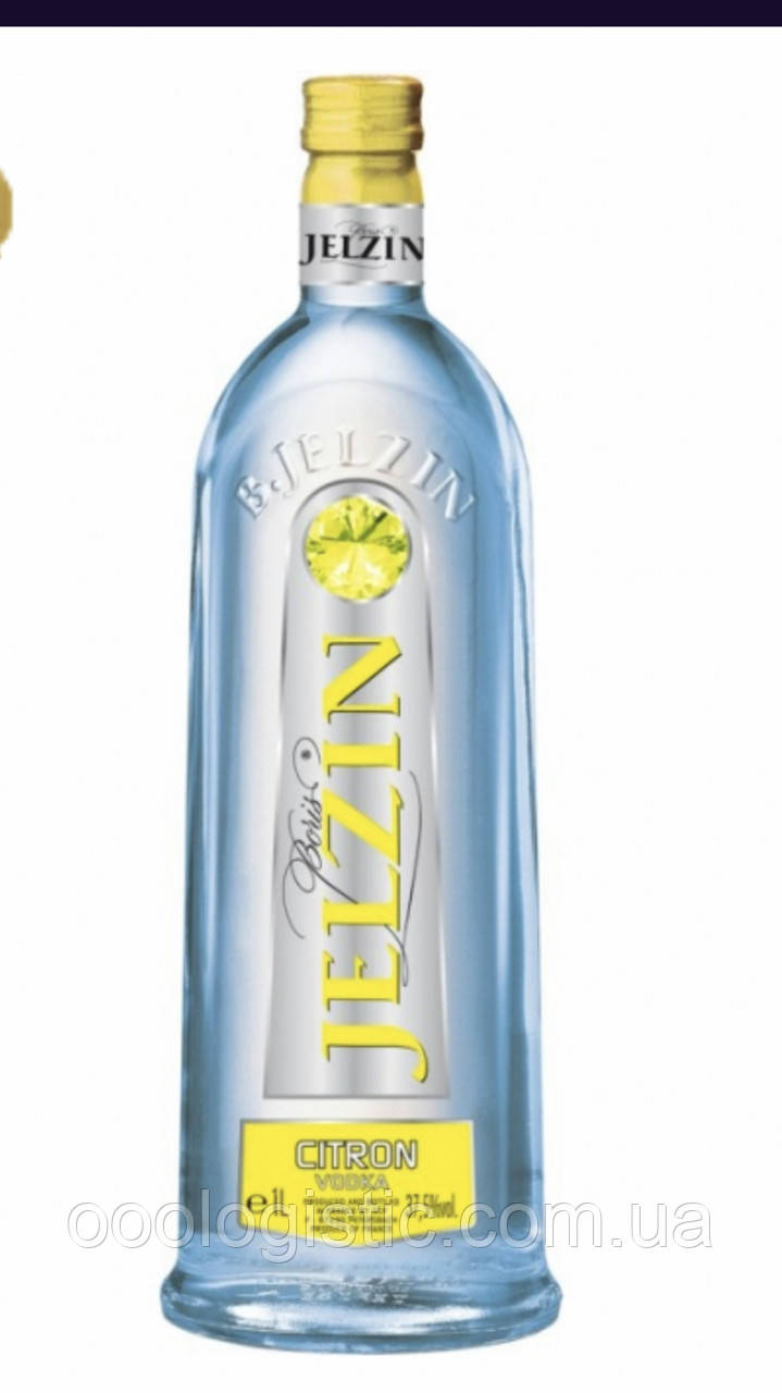 Водка Jelzin citron 1л.37,5 Франция duty free