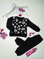 """Дитячий трикотажний костюм для дівчинки- штани і світшот """"LEAF""""."""