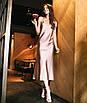 Шелковое платье комбинация миди на бретелях серое красное черное бельевой стиль, фото 5