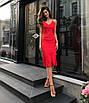 Шелковое платье комбинация миди на бретелях серое красное черное бельевой стиль, фото 2