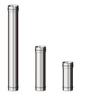 Труба дымоходная 0,5 м ф 120 мм  из нержавеющей стали